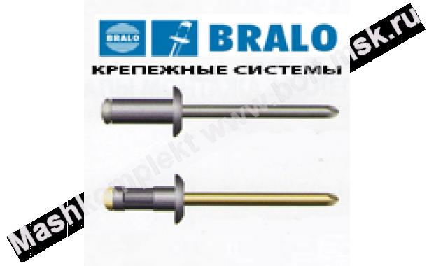 2,4 x 4 Заклепка вытяжная алюминий/сталь стандарт.бортик Bralo