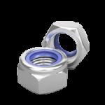 Гайка шестигранная со стопорным кольцом DIN 985
